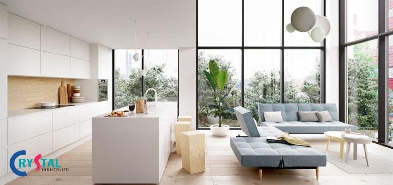 nhà phong cách hiện đại - Crystal Design TPL