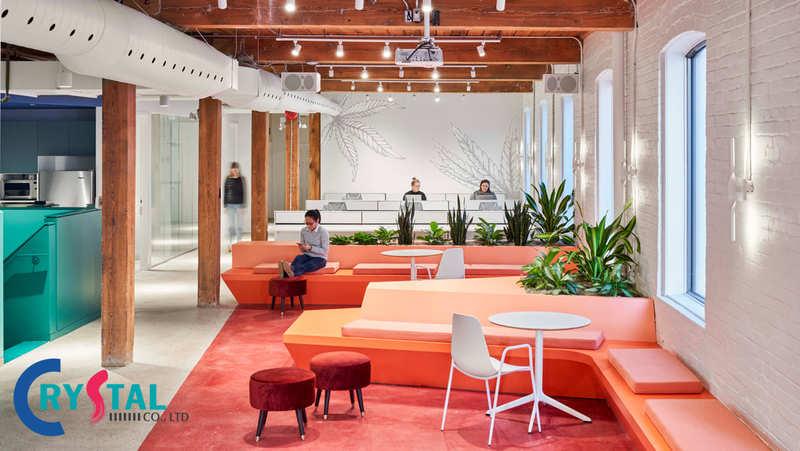 những mẫu thiết kế văn phòng công ty hiện đại - Crystal Design TPL