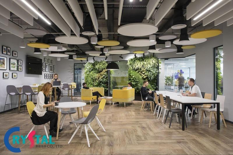 những mẫu thiết kế văn phòng đẹp hiện đại - Crystal Design TPL