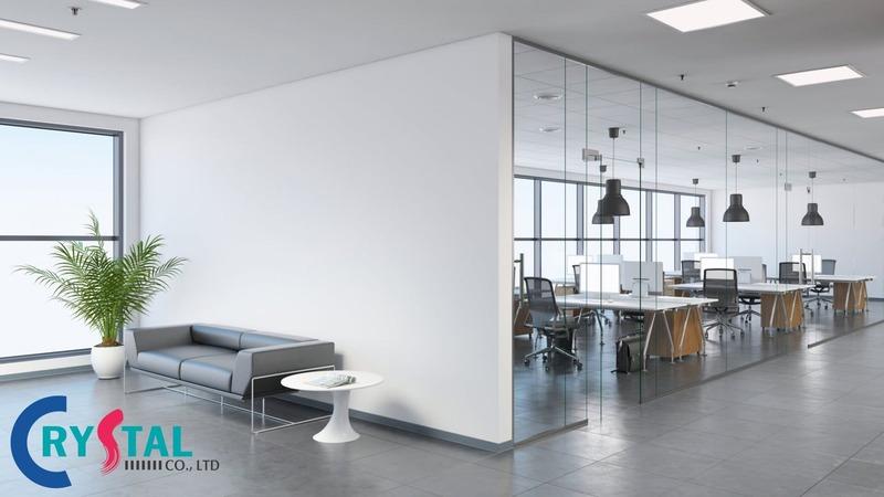 những mẫu thiết kế văn phòng đẹp - Crystal Design TPL