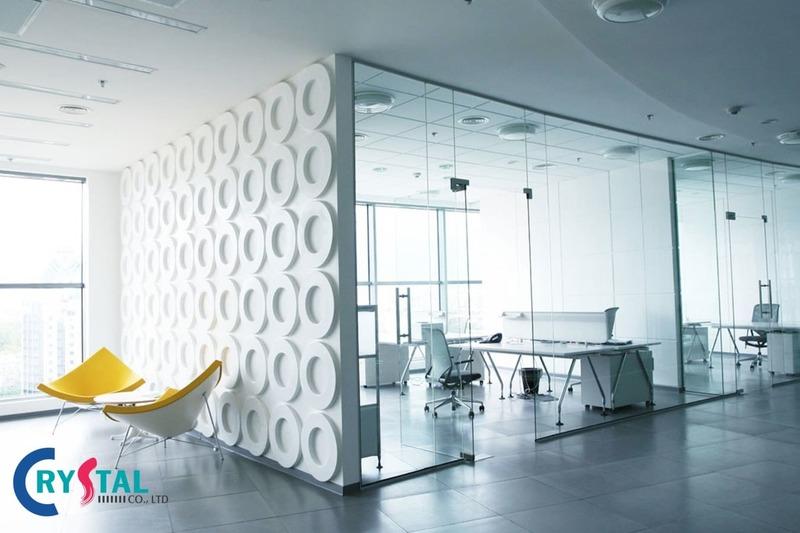những mẫu thiết kế văn phòng làm việc hiện đại - Crystal Design TPL