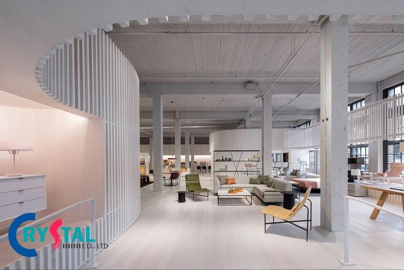những mẫu văn phòng công ty đẹp hiện đại - Crystal Design TPL