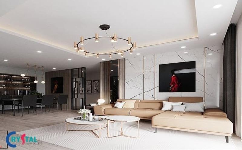 những phong cách thiết kế nội thất hiện đại - Crystal Design TPL