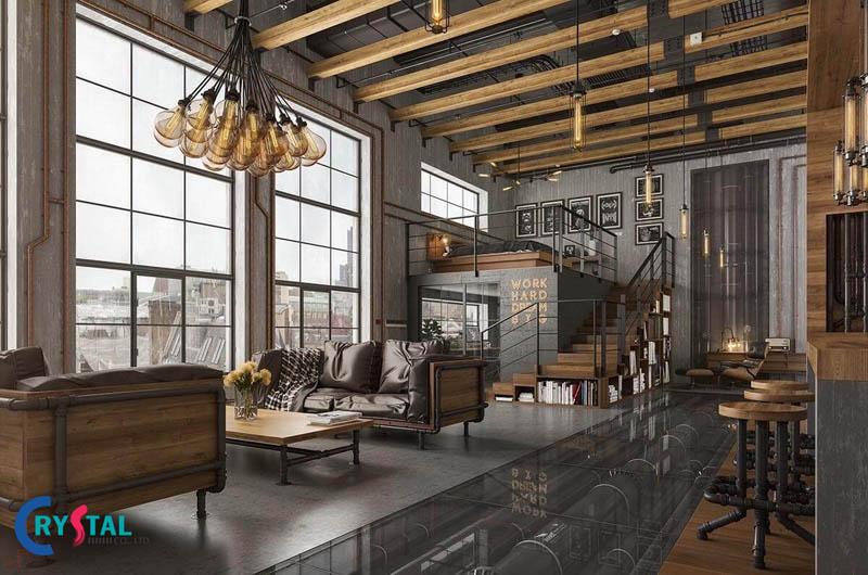 nội thất công nghiệp - Crystal Design TPL