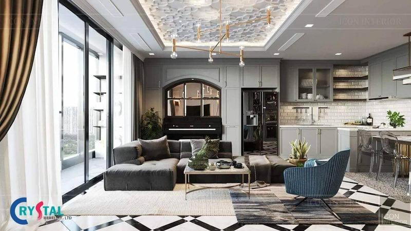 nội thất nhà hiện đại - Crystal Design TPL