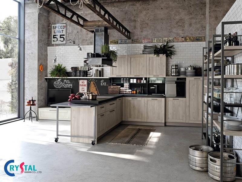 nội thất phong cách công nghiệp - Crystal Design TPL