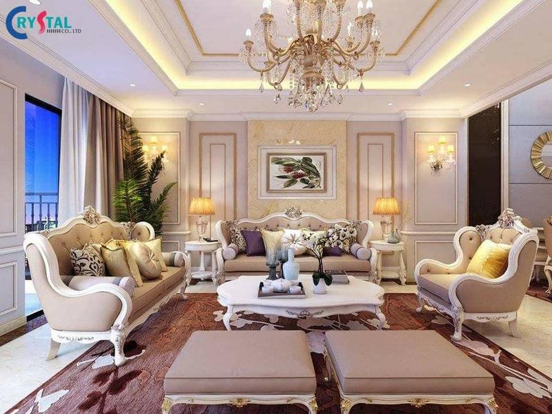 nội thất phong cách tân cổ điển - Crystal Design TPL
