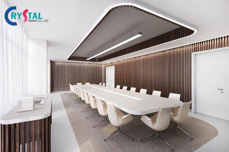 nội thất phòng họp đẹp - Crystal Design TPL