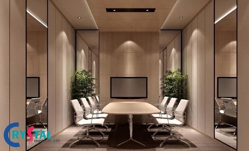 nội thất phòng họp hiện đại - Crystal Design TPL