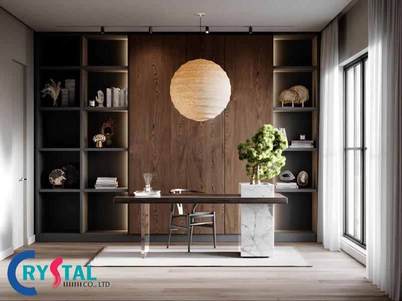 nội thất phòng làm việc giám đốc - Crystal Design TPL