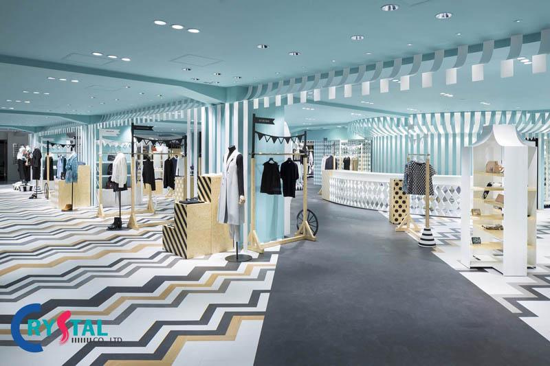nội thất shop thời trang - Crystal Design TPL