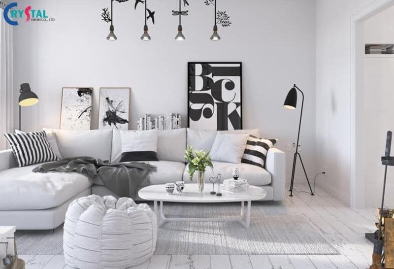 nội thất thiết kế theo kiến trúc Scandinavian - Crystal Design TPL