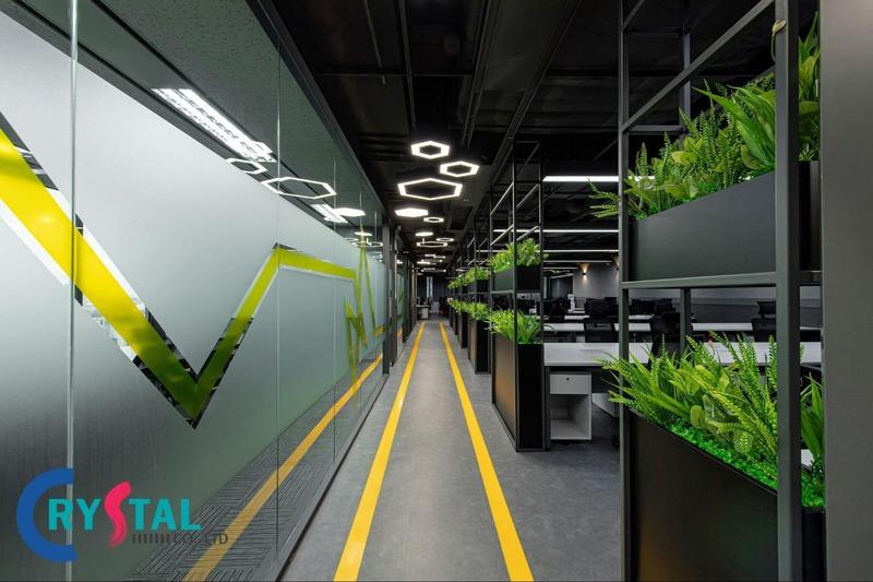 nội thất văn phòng cao cấp đẹp - Crystal Design TPL