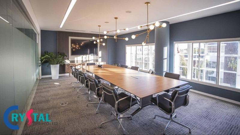nội thất văn phòng đẹp hiện đại - Crystal Design TPL