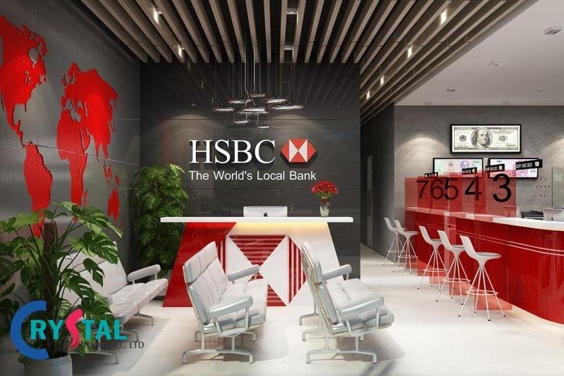 nội thất văn phòng giao dịch - Crystal Design TPL