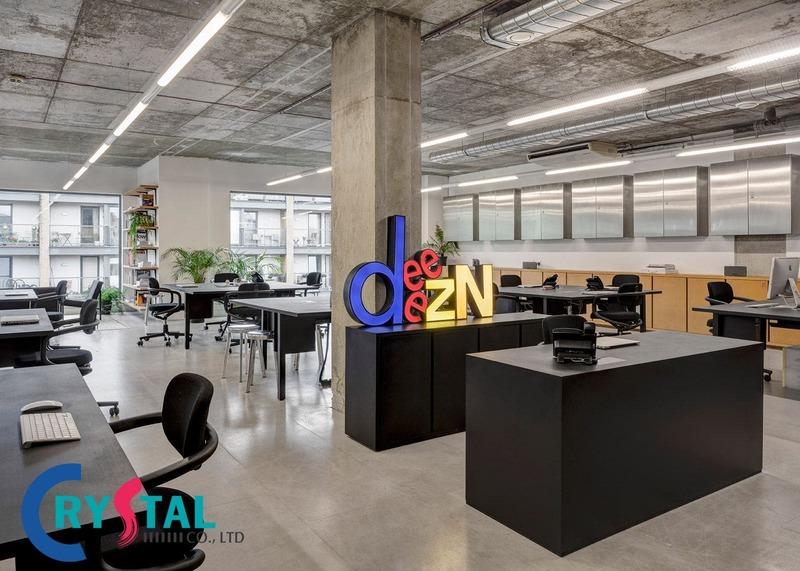 nội thất văn phòng hiện đại - Crystal Design TPL