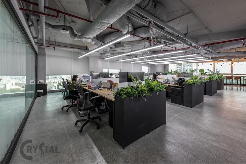 nội thất văn phòng thiết kế - Crystal Design TPL