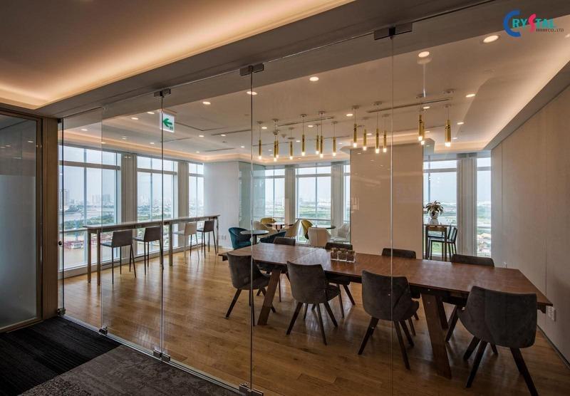phong cách công nghiệp cho văn phòng - Crystal Design TPL