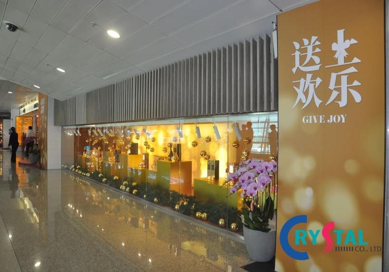 Một góc hành lang được trang trí thu hút khách tham quan