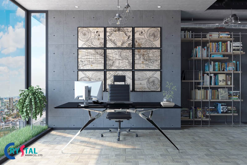 phong cách industrial style - Crystal Design TPL