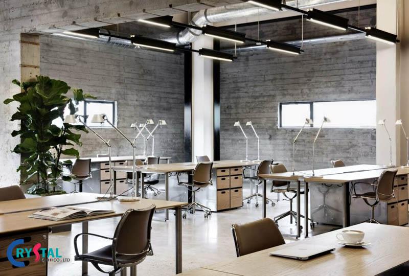 phong cách industrial trong nội thất - Crystal Design TPL