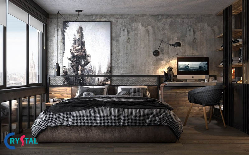 phong cách kiến trúc công nghiệp - Crystal Design TPL