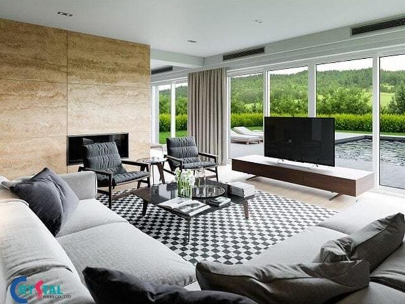 phong cách nội thất hiện đại là gì - Crystal Design TPL