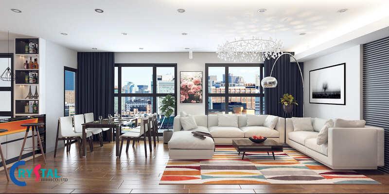 phong cách nội thất hiện đại - Crystal Design TPL