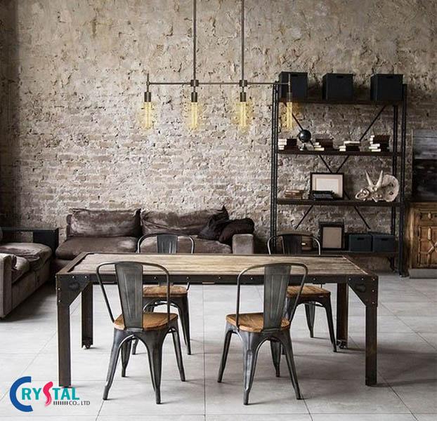 phong cách nội thất industrial là gì - Crystal Design TPL