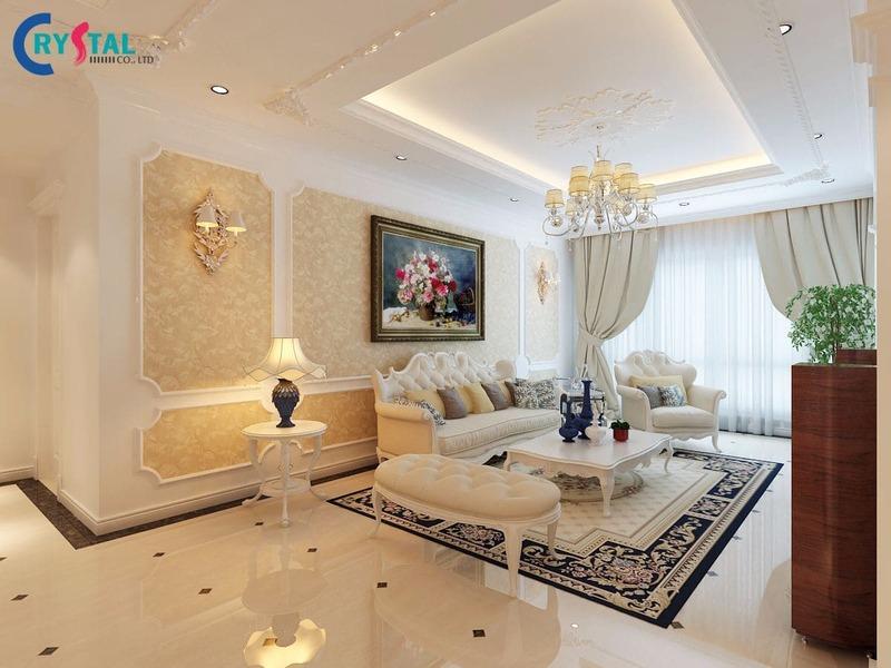 phong cách nội thất tân cổ điển - Crystal Design TPL