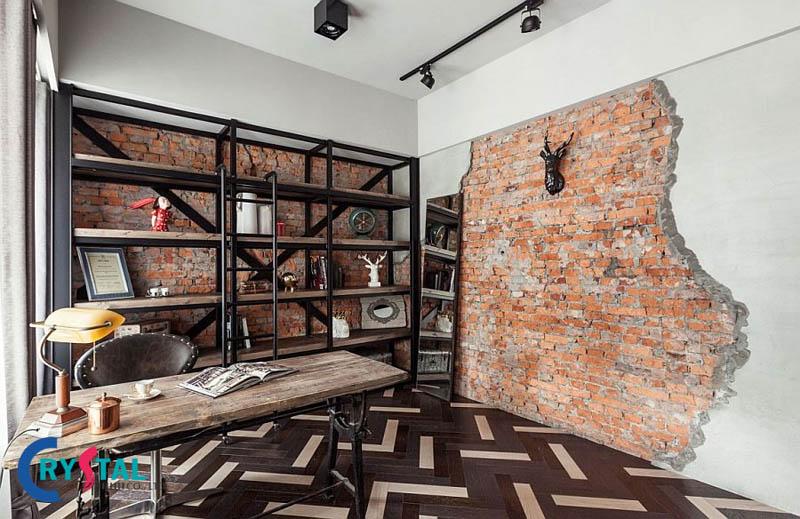 phong cách nội thất thiết kế công nghiệp - Crystal Design TPL