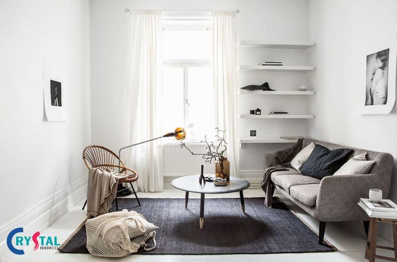 phong cách nội thất tối giản - Crystal Design TPL