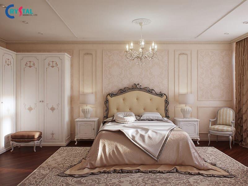 Thiết kế nội thất phong cách tân cổ điển với màu sắc nhẹ nhàng đem lại cảm giác thoải mái cho gia chủ