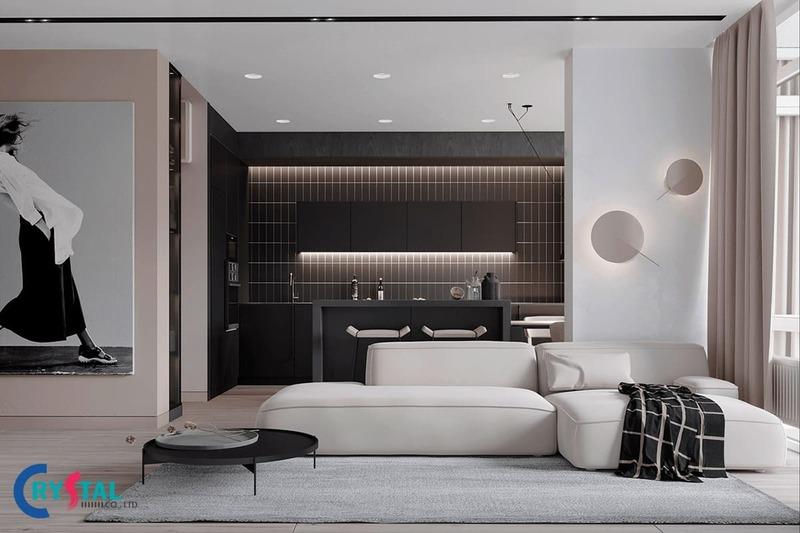 phong cách thiết kế minimalism - Crystal Design TPL