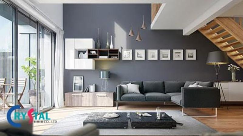 phong cách thiết kế nội thất hiện đại là gì - Crystal Design TPL