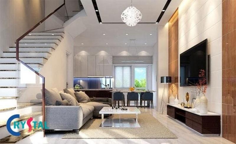 phong cách thiết kế nội thất hiện đại - Crystal Design TPL