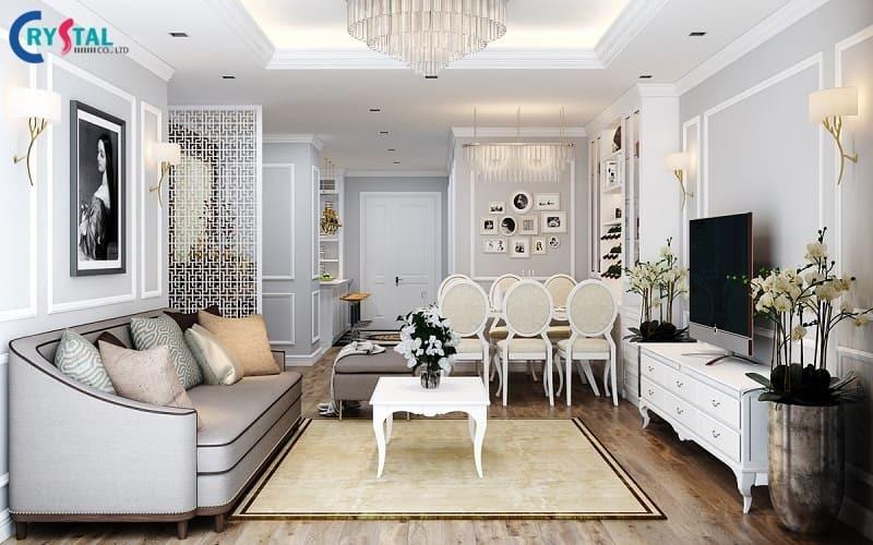phong cách thiết kế nội thất tân cổ điển - Crystal Design TPL