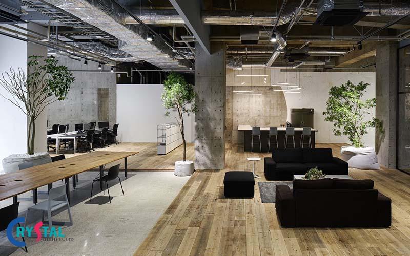 phong cách thiết kế nội thất văn phòng mới nhất - Crystal Design TPL
