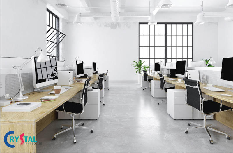 phong cách thiết kế nội thất văn phòng truyền thống - Crystal Design TPL