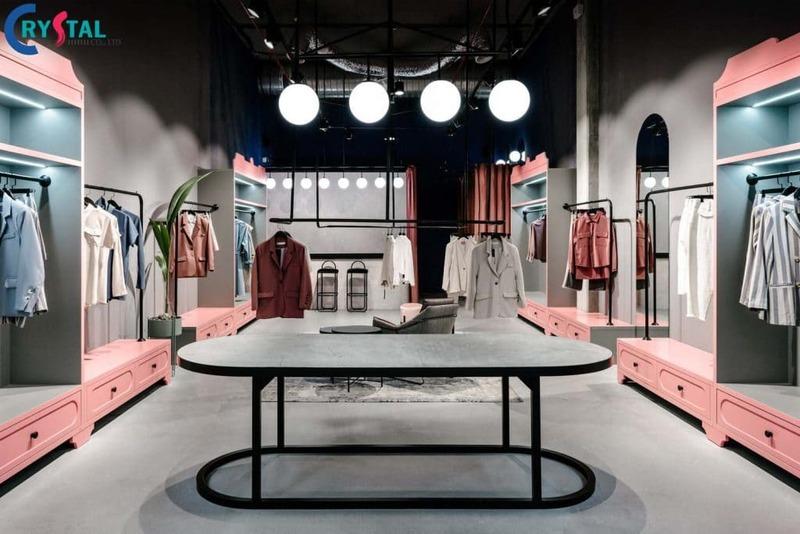 phong cách thiết kế showroom - Crystal Design TPL