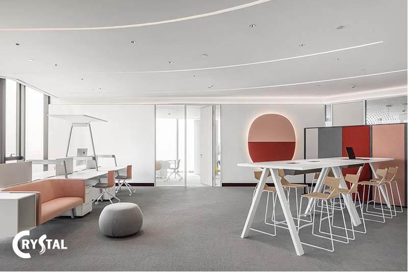 phong cách thiết kế văn phòng tối giản - Crystal Design TPL
