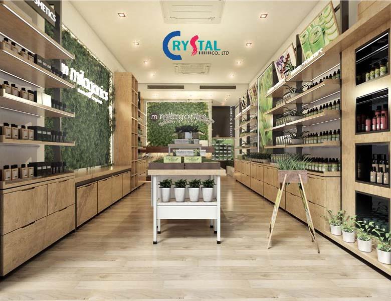 phong cách thiết nội thất cửa hàng - Crystal Design TPL