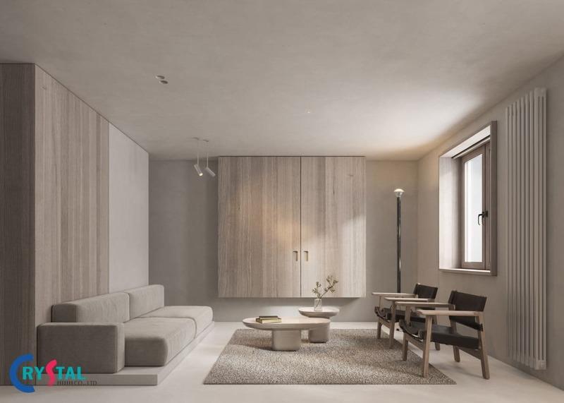phong cách tối giản trong thiết kế nội thất - Crystal Design TPL