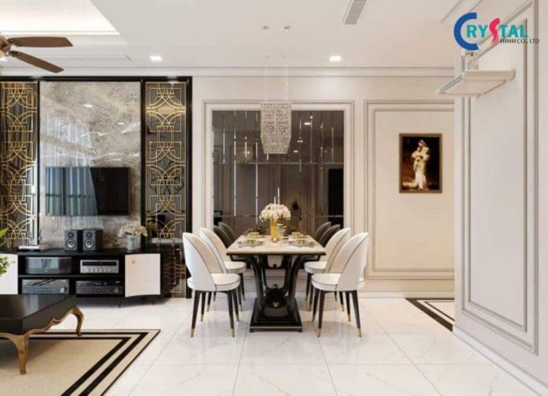 thi công nội thất chung cư tphcm - Crystal Design TPL