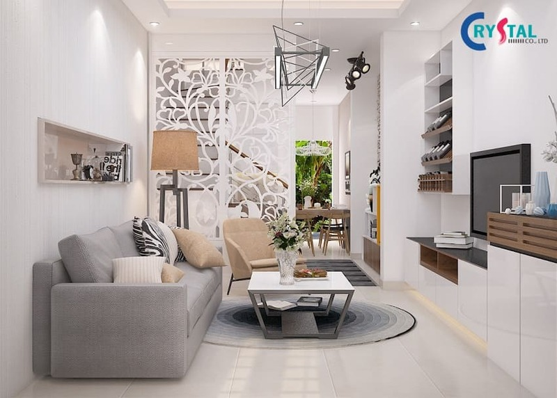 thi công nội thất chung cư - Crystal Design TPL