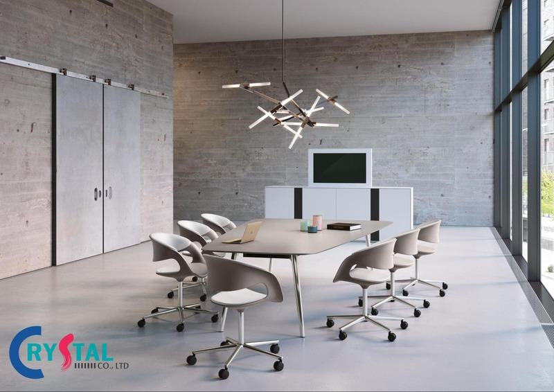 thi công nội thất văn phòng hcm - Crystal Design TPL