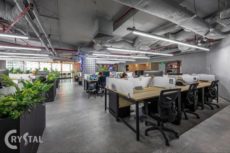 thi công nội thất văn phòng tphcm - Crystal Design TPL