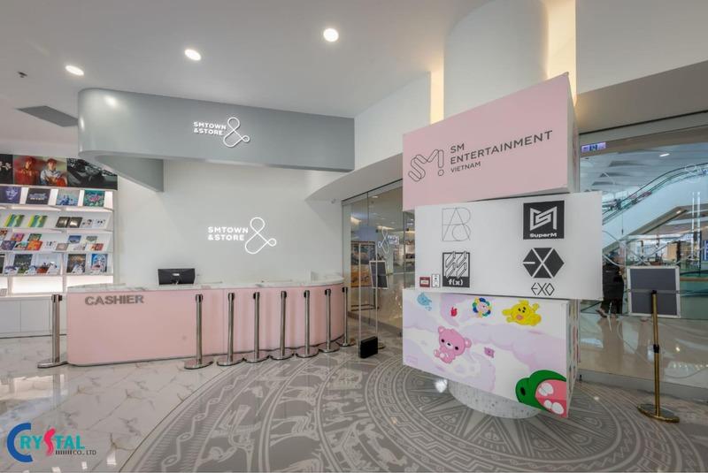 thi công thiết kế nội thất showroom ấn tượng - Crystal Design TPL