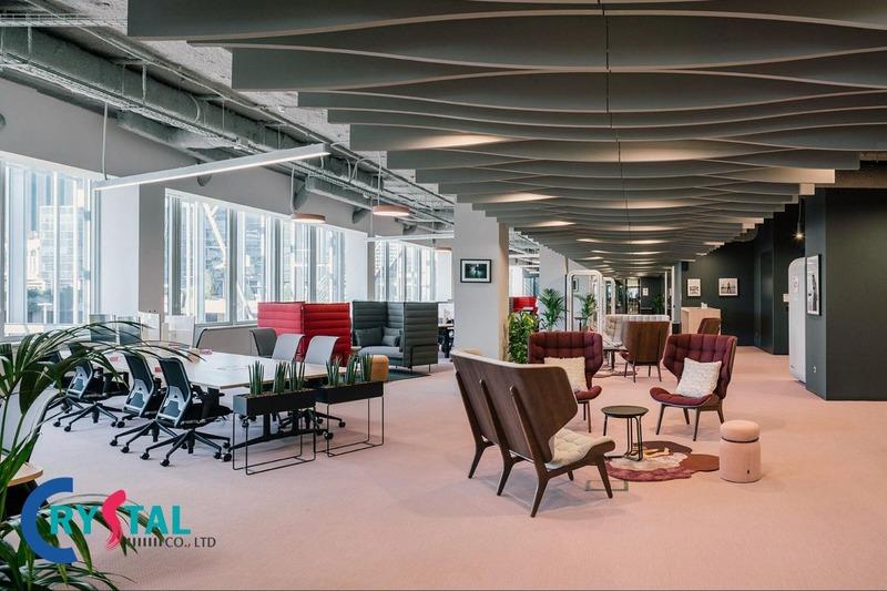thi công thiết kế nội thất văn phòng tphcm - Crystal Design TPL