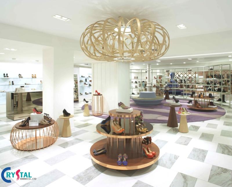 thi công thiết kế showroom nội thất đẹp - Crystal Design TPL